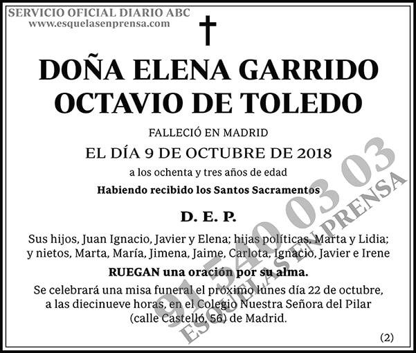Elena Garrido Octavio de Toledo